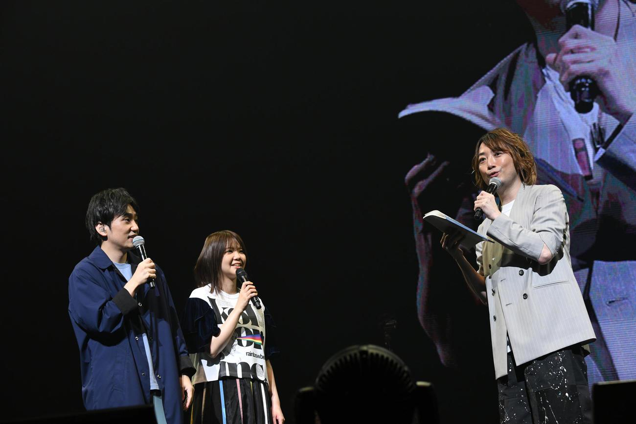 全国ツアー最終公演が3人体制最後のライブとなったいきものがかり。左から水野良樹、吉岡聖恵、山下穂尊