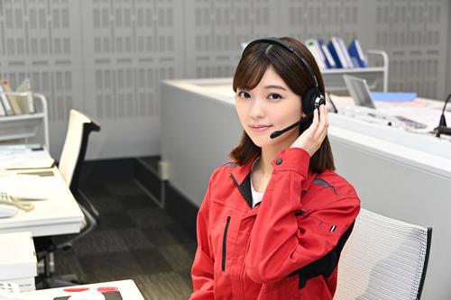 東京都危機管理対策室の職員・清川標を演じる工藤美桜(C)TBS