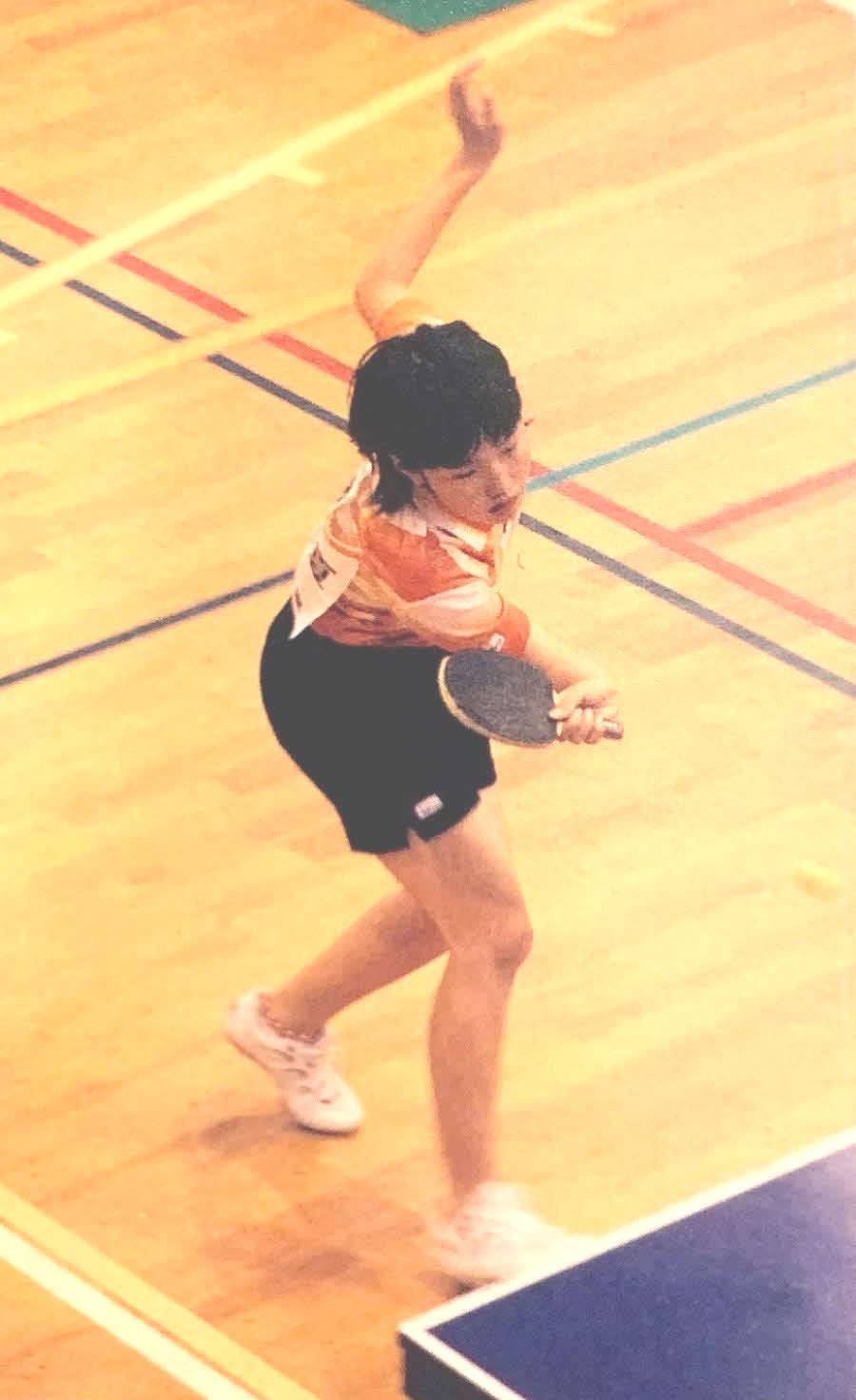 カットマンとして活躍していた中学時代の横澤夏子