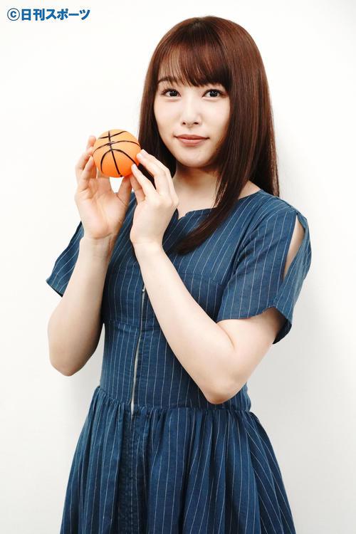 五輪バスケットボールについて語った桜井日奈子(撮影・佐藤成)