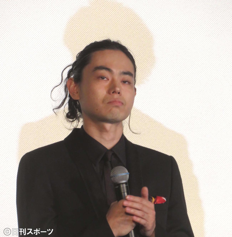 映画「CUBE 一度入ったら、最後」完成披露試写会に登壇した菅田将暉(撮影・村上幸将)