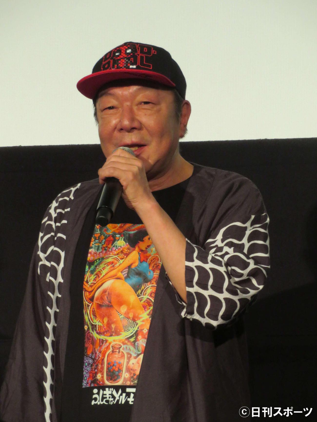 映画「空白」初日舞台あいさつに登壇した古田新太(撮影・村上幸将)