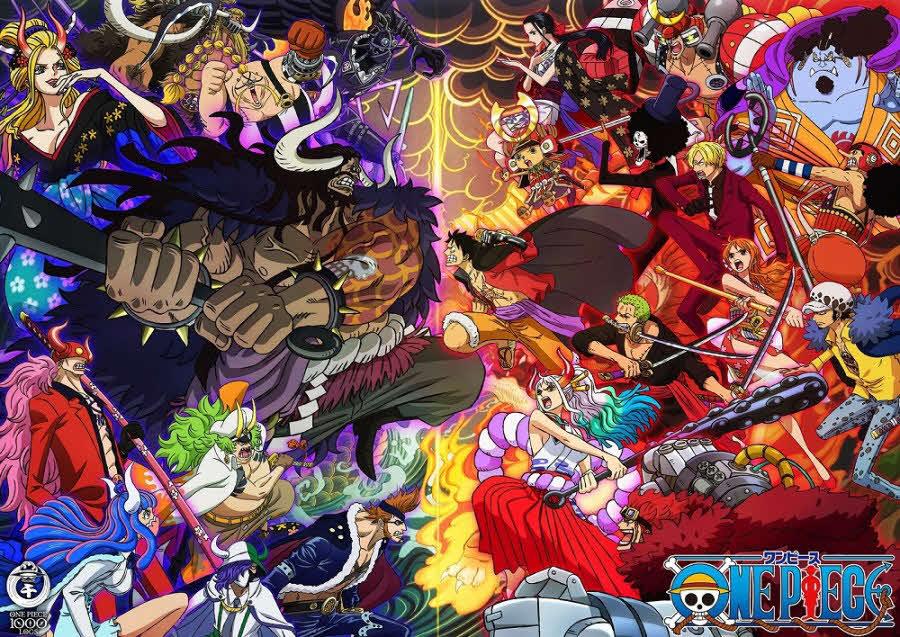 フジテレビ系アニメ「ONE PIECE」が11月21日の放送で1000話を迎えることを記念し制作されたアニメ放送1000話記念ビジュアル(C)尾田栄一郎/集英社・フジテレビ・東映アニメーション
