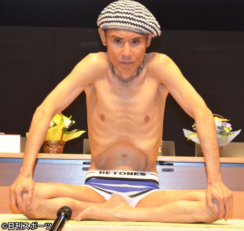 """""""ヨギー""""片岡鶴太郎、ヨガで体重65→43キロに"""
