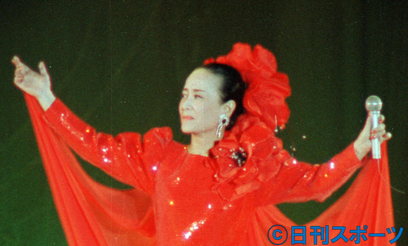 美空ひばりさん(1988年4月11日撮影)