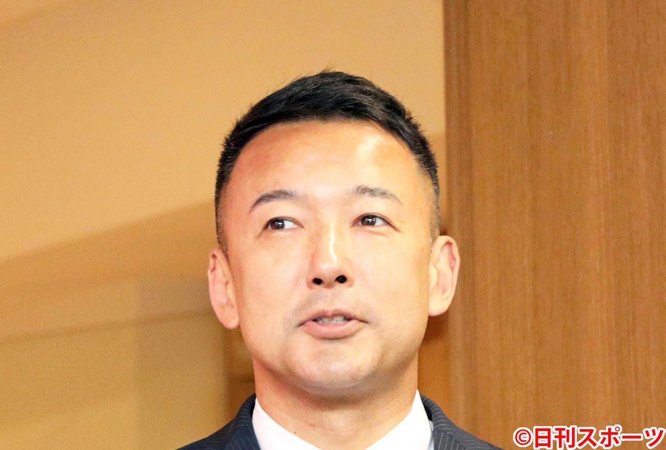 れいわ新選組代表の山本太郎氏(2020年7月5日撮影)