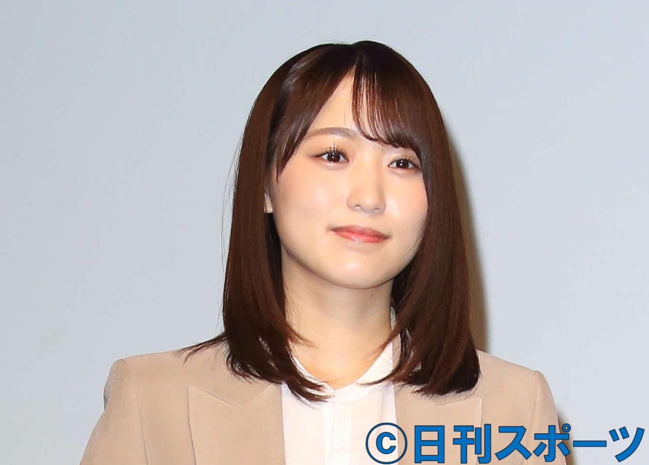 櫻坂46の菅井友香(2020年2月25日撮影)