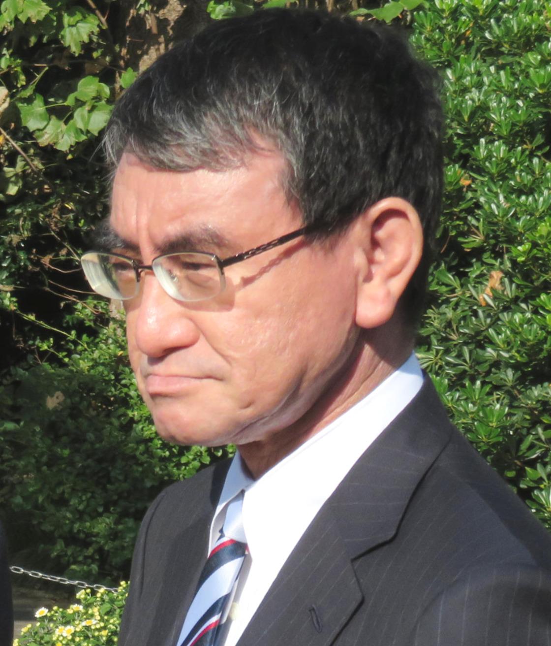河野太郎氏(2019年11月2日撮影)