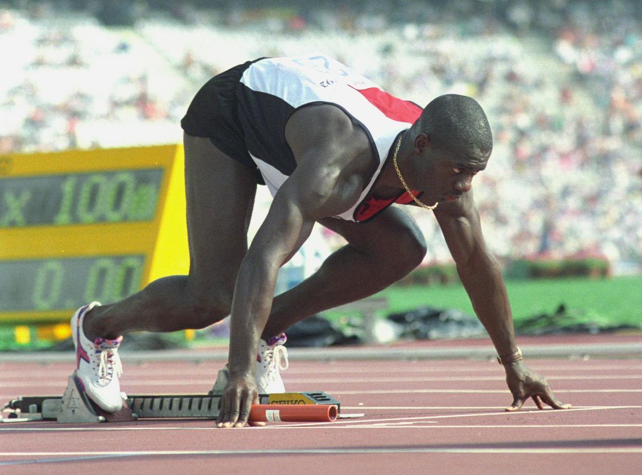 1992年8月7日 バルセロナ五輪ベン・ジョンソンのスタート