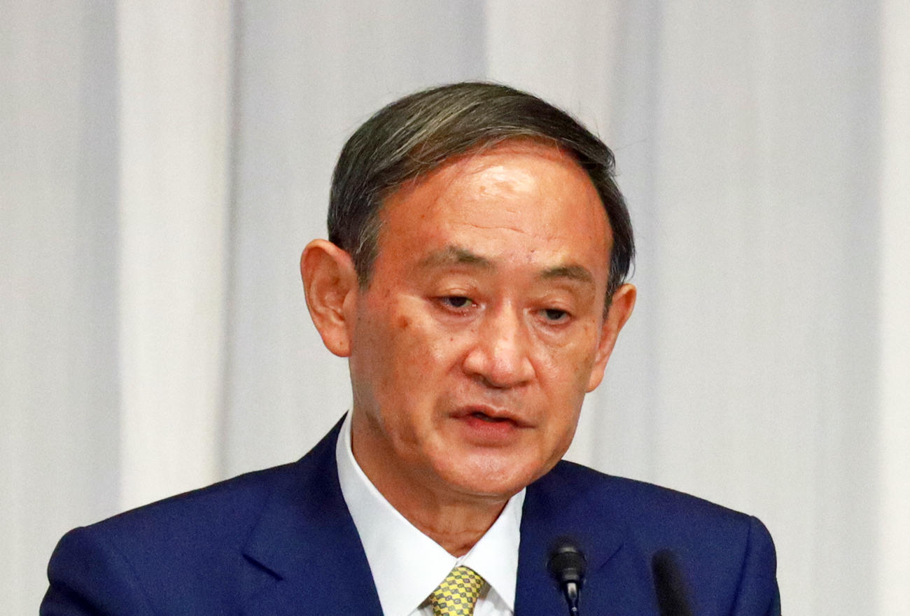 菅義偉首相(2020年9月8日撮影)