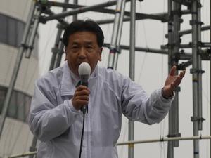 「東京大作戦1014街頭演説会」と銘打ち、遊説した立憲民主党の枝野幸男代表