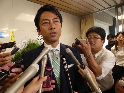 進次郎氏「単純ではない」投票先明言せず/一問一答
