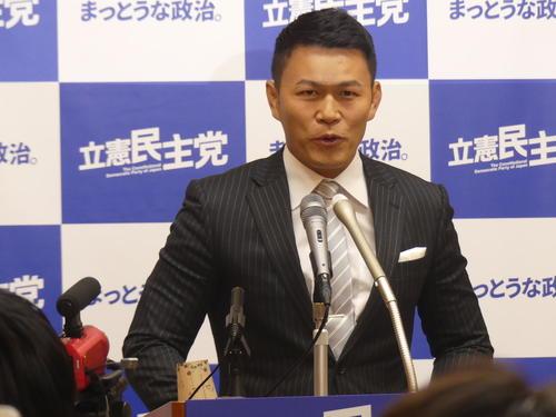 立憲民主党から参院選比例代表への出馬を表明した元格闘家の須藤元気氏