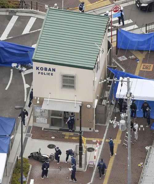 警察官が刺され拳銃が奪われる事件があった千里山交番(共同)