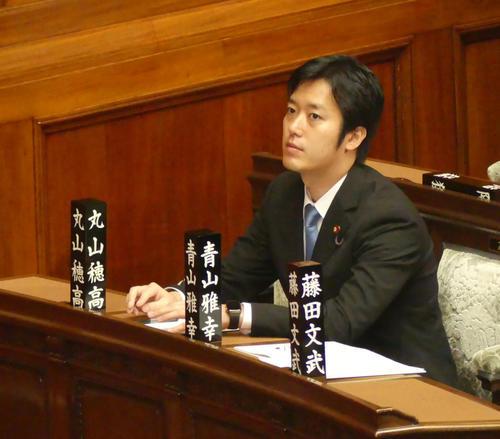 今月6日の糾弾決議可決後、初めて衆院本会議に出席した丸山穂高衆院議員