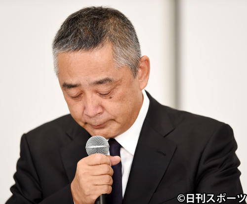 吉本興業の岡本昭彦社長(2019年7月22日撮影)