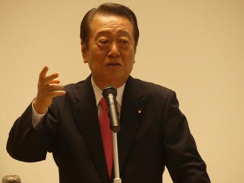「小沢一郎政治塾」で講演する国民民主党の小沢一郎衆院議員