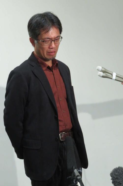 「主戦場」上映の経緯を語る中、涙したKAWASAKIしんゆり映画祭の中山周治代表(撮影・村上幸将)