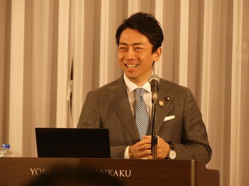 大臣就任後、初めて地元の横須賀市で講演した小泉進次郎環境相