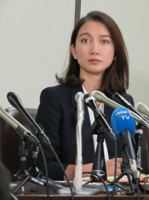 会見を開いた伊藤詩織さん(撮影・村上幸将)