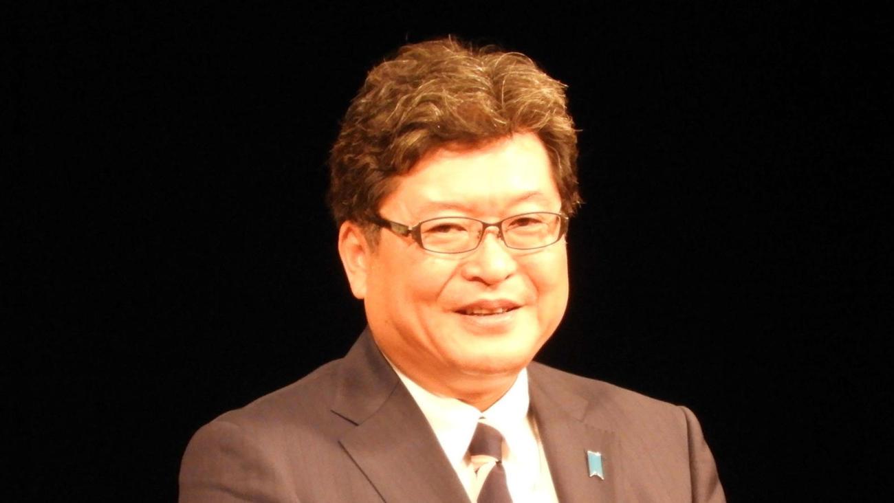 萩生田光一文科相(2017年10月1日撮影)