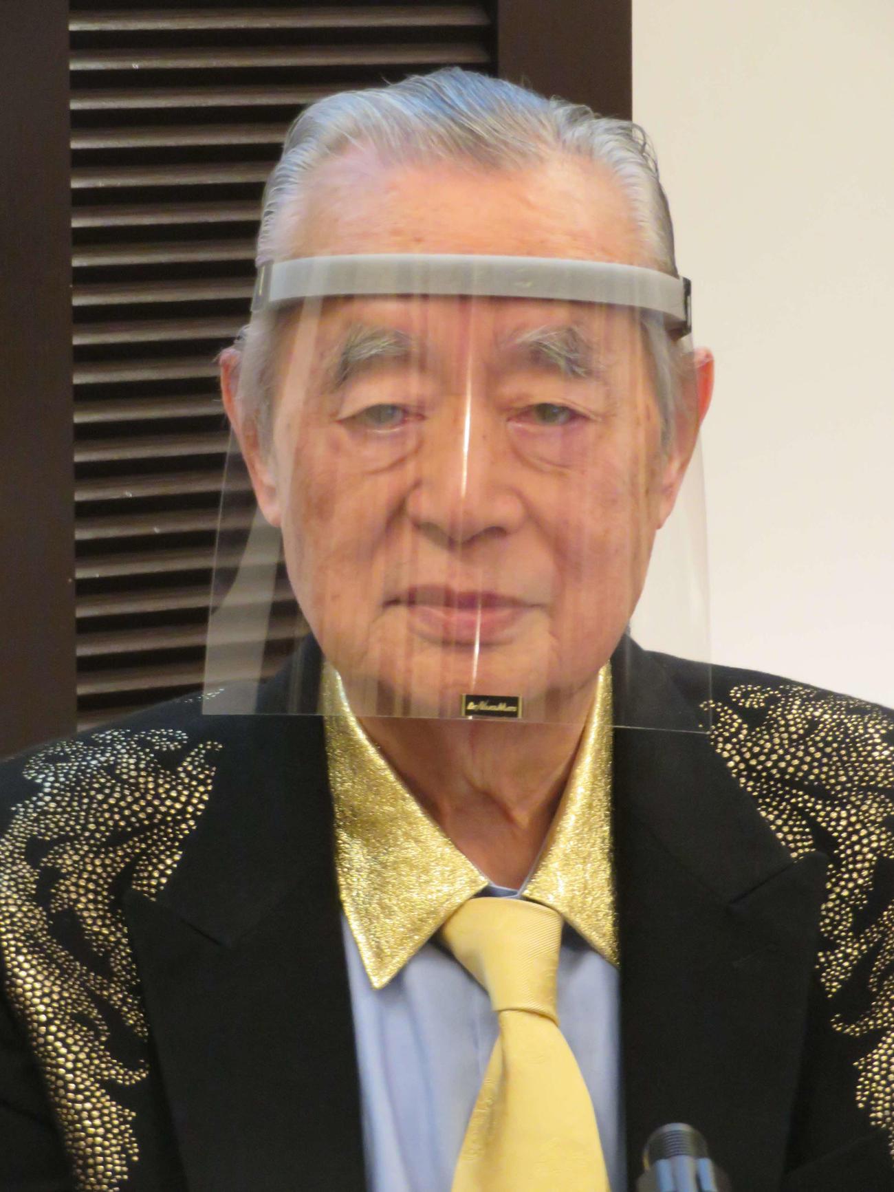 ドクター中松氏(2020年2月14日撮影)