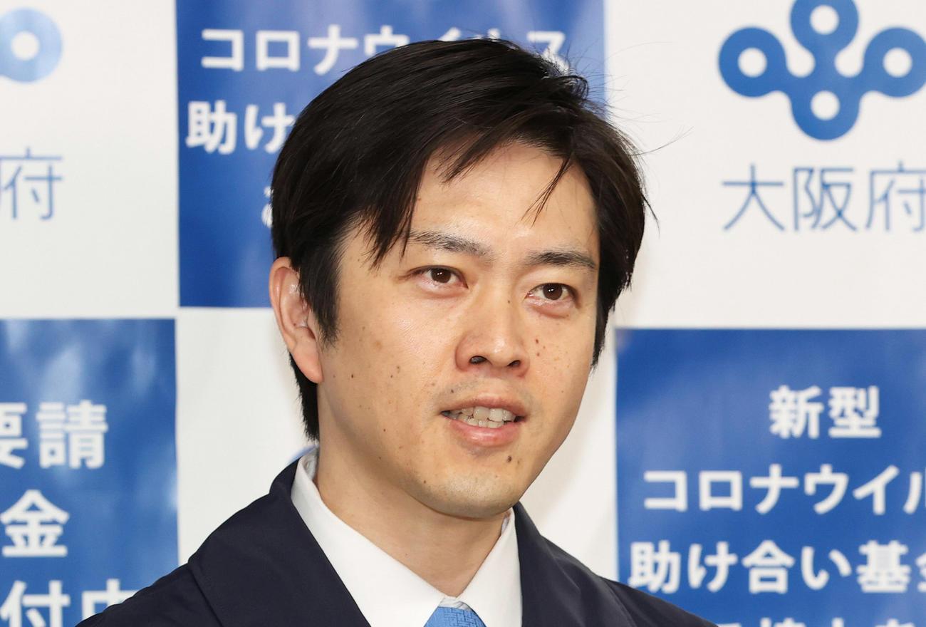 大阪府の吉村洋文知事(20年5月撮影)