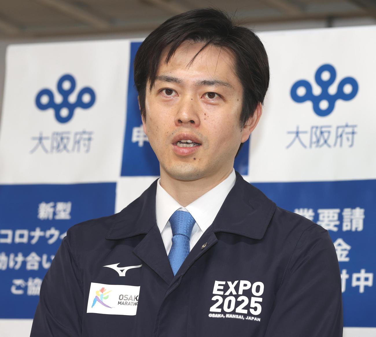 吉村洋文知事(2020年5月11日撮影)