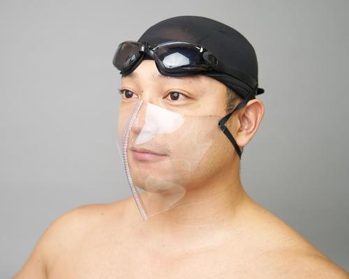 水泳指導者用の耐水透明マスク登場、納品1カ月待ち