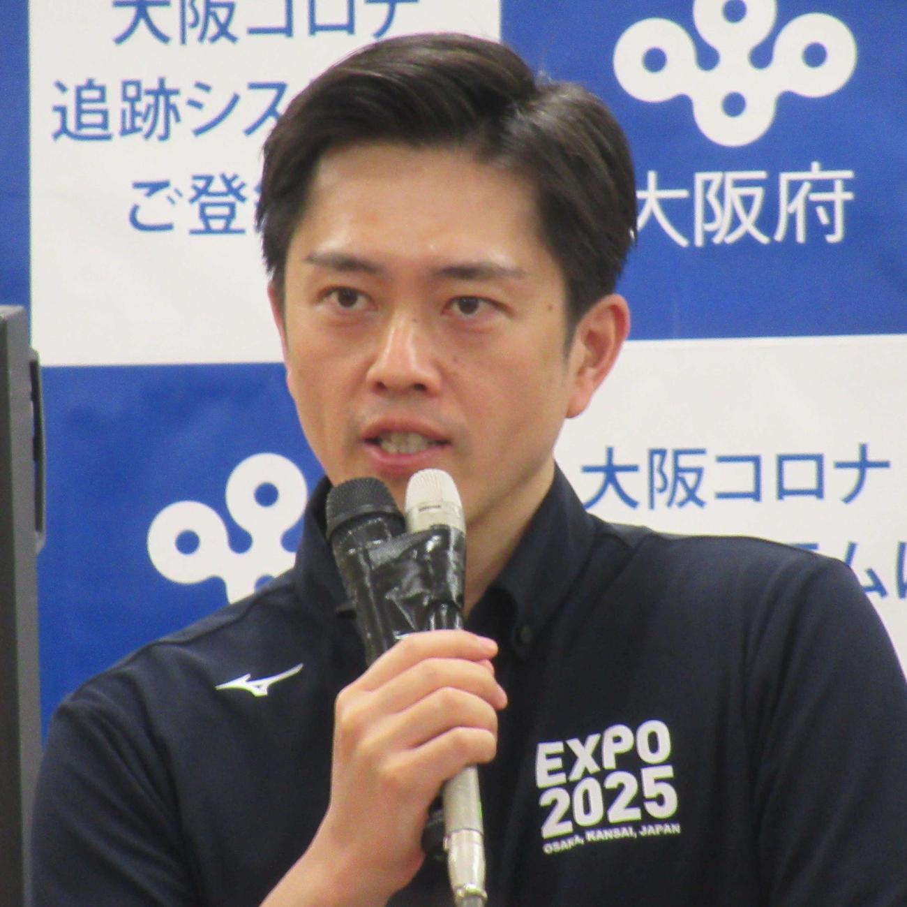 吉村洋文知事(20年6月17日撮影)