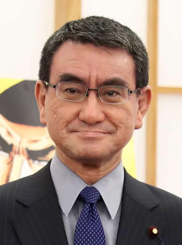 河野太郎防衛相(2018年4月6日撮影)