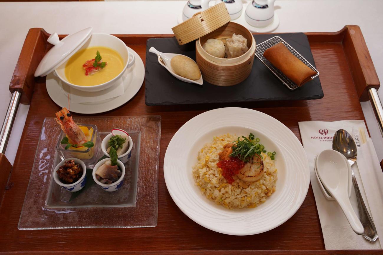 藤井聡太七段が注文した昼食は「中華セットランチ」(日本将棋連盟提供)