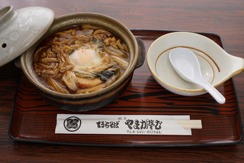 藤井聡太七段が勝負メシに注文した「味噌煮込みうどん」(日本将棋連盟提供)
