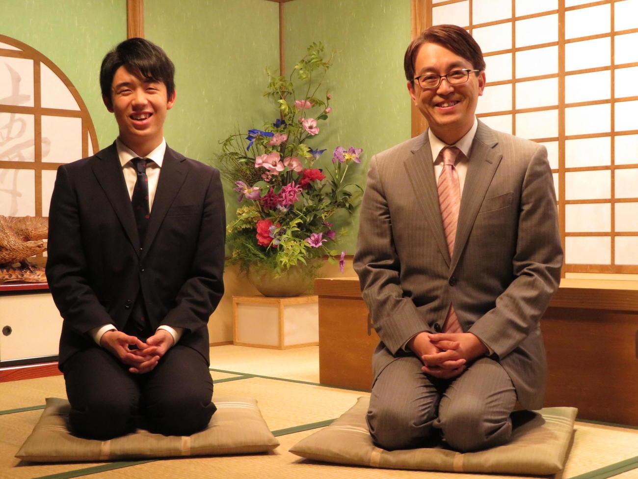藤井聡太七段と羽生善治九段