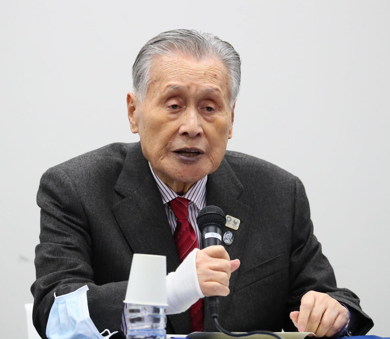 森喜朗氏(2020年3月30日撮影)