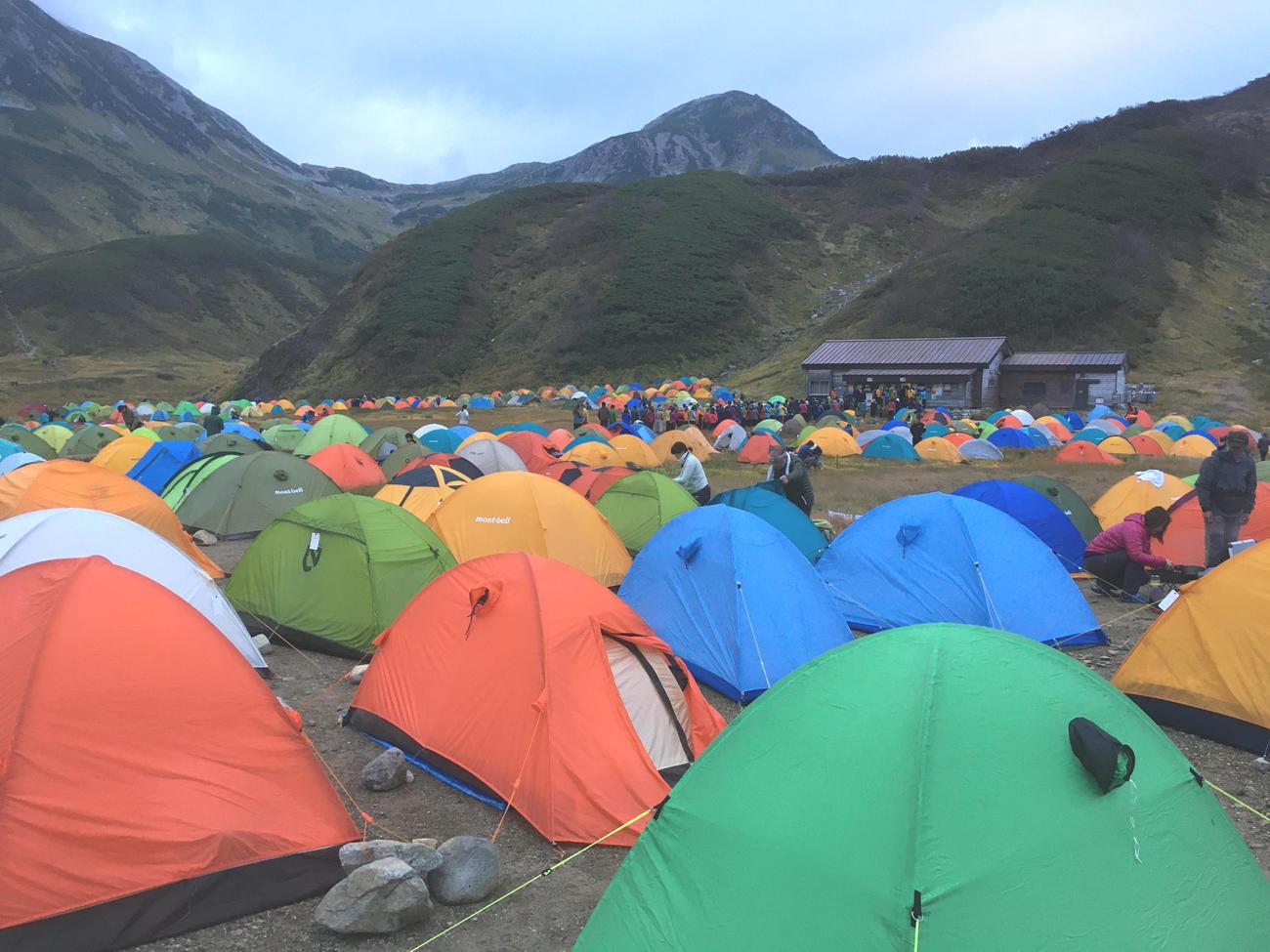 富山の雷鳥沢キャンプ場