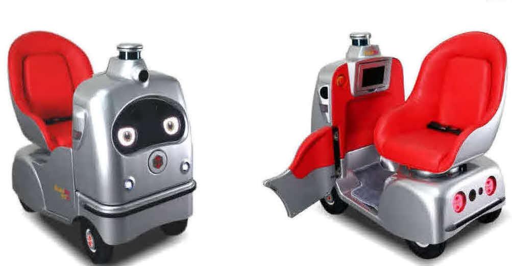 1日から都内で国内初のシェアリングサービスを開始した自動運転ロボット「ラクロ」