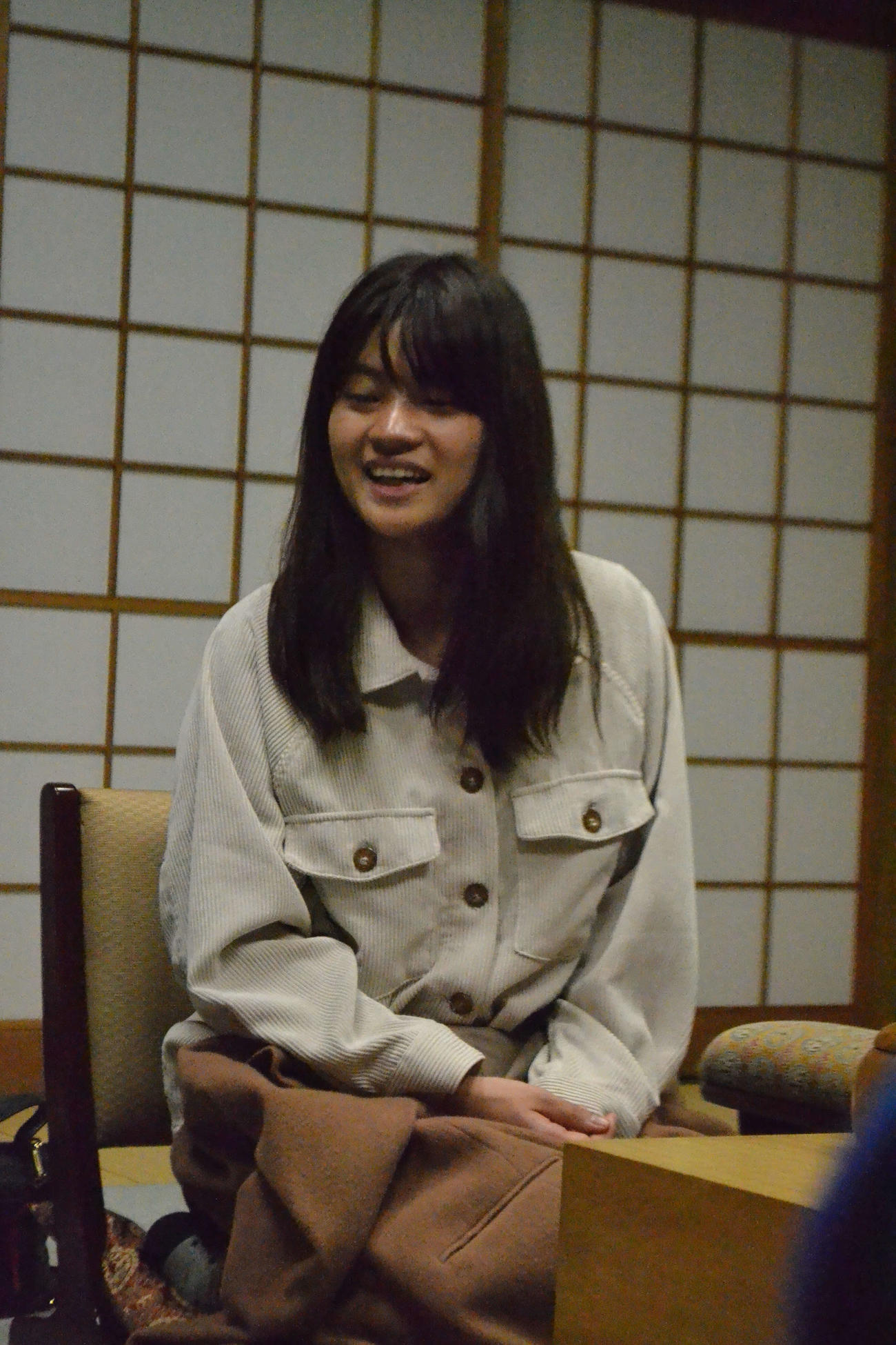 藤沢里菜女流名人(2019年11月18日撮影)