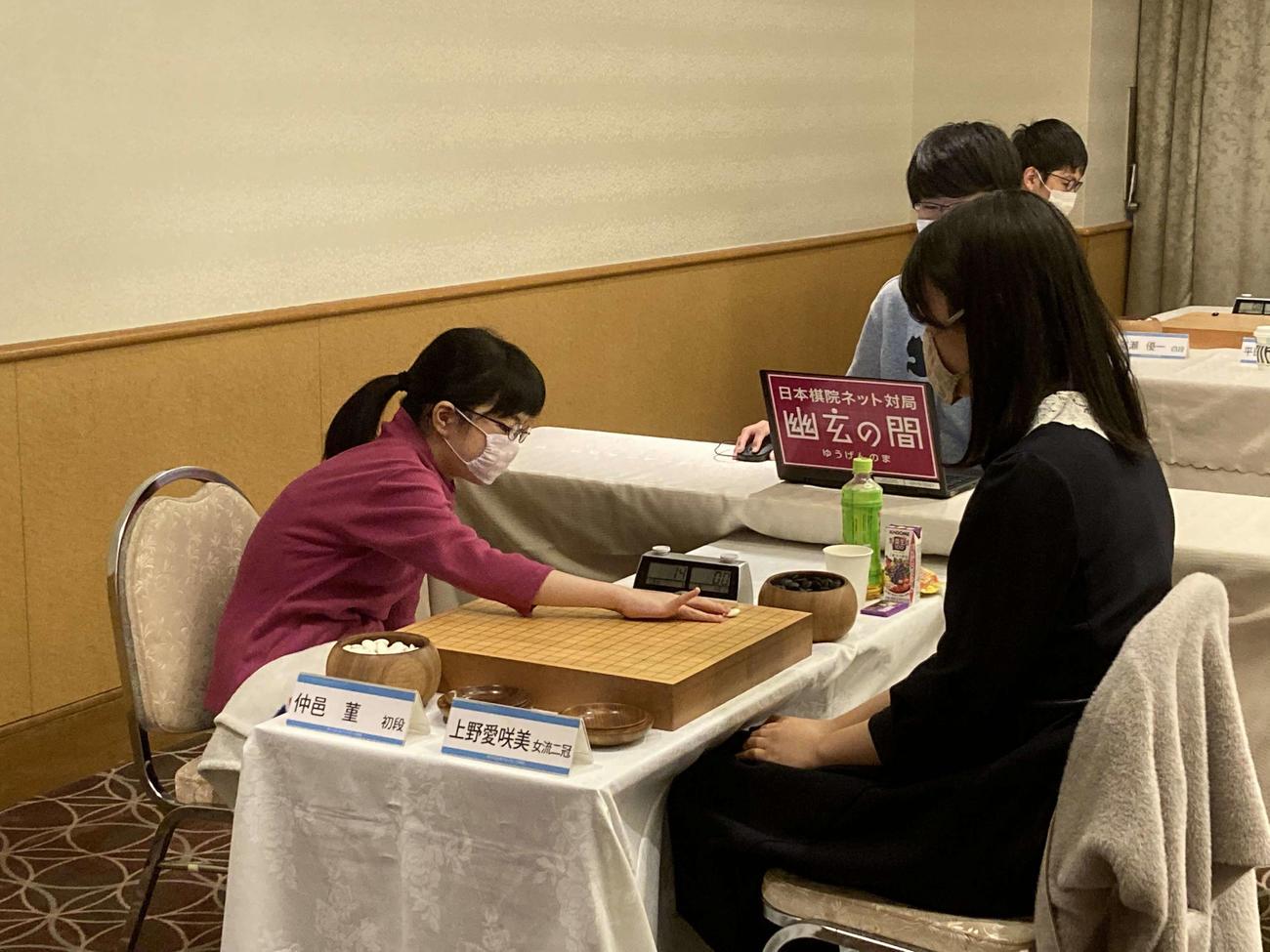 広島アルミ杯若鯉戦の本戦に初めて勝ち上がった仲邑菫初段は惜しくも1回戦で敗退(日本棋院提供)