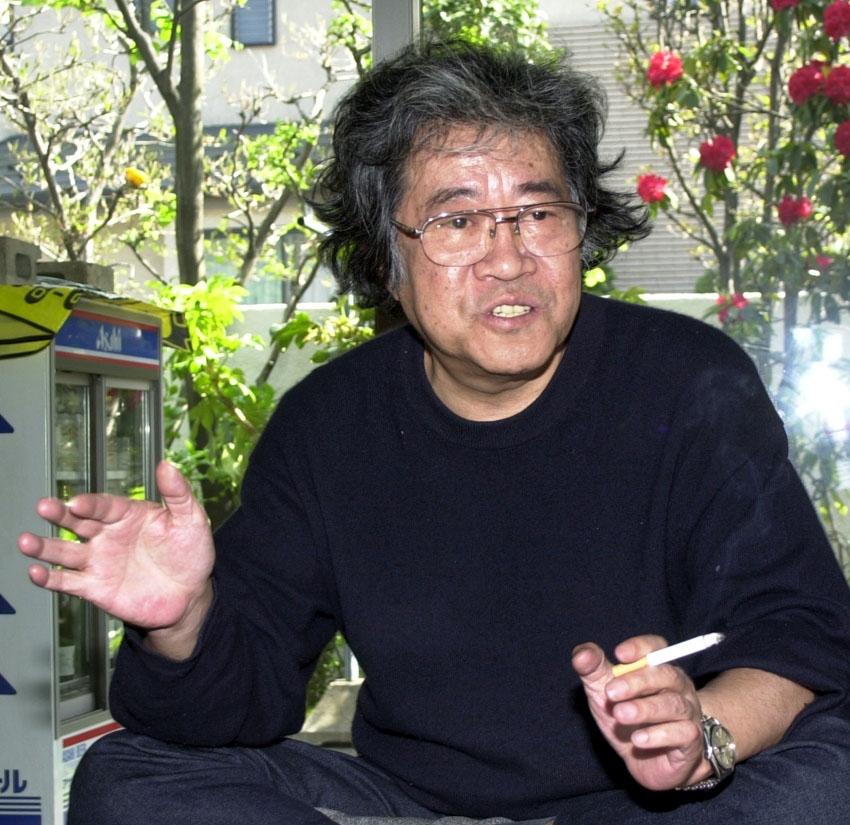 矢口高雄氏は「東北の心」をバックボーンにして、人間関係や自然の大切さを強調する(2003年4月撮影)