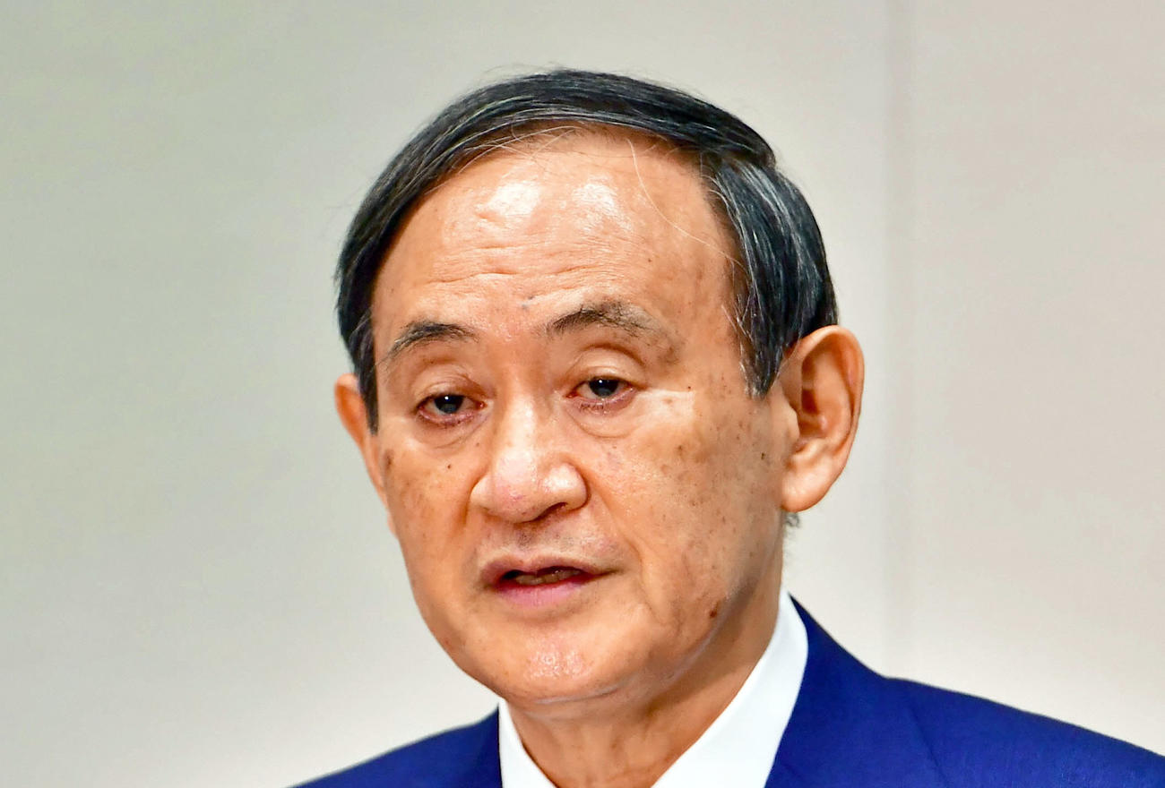 菅義偉首相(2020年9月2日撮影)