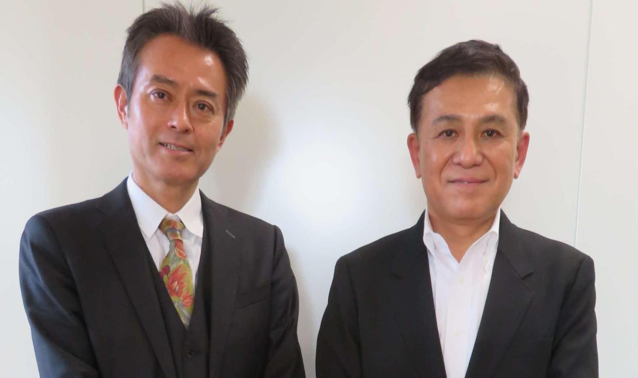 都内で対談した相澤冬樹氏(左)と鎌田靖氏(撮影・村上幸将)