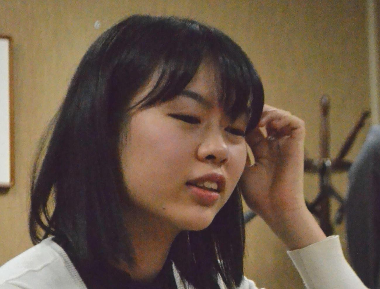 上野愛咲美四段(2019年11月15日撮影)