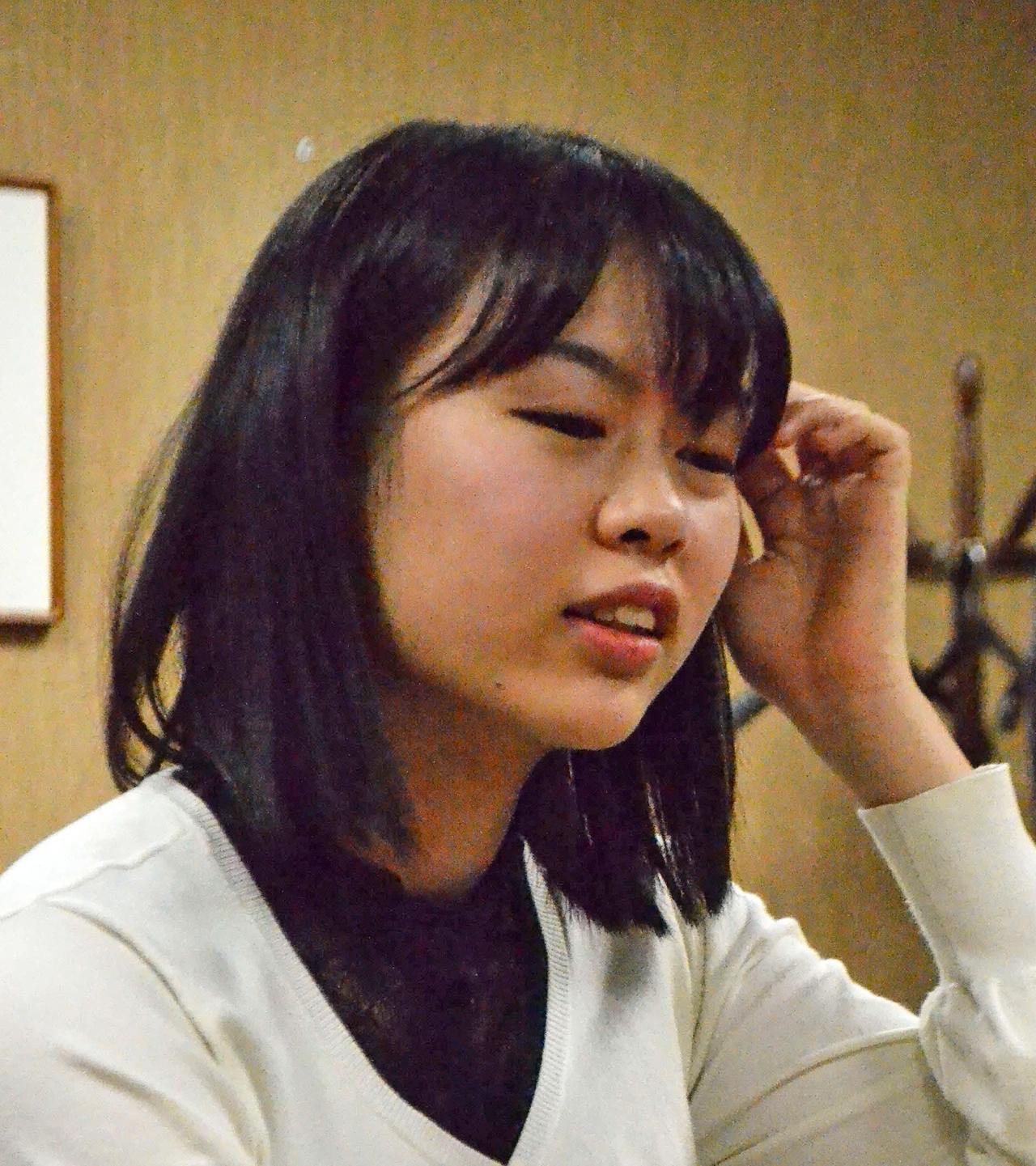 上野愛咲美女流棋聖(2019年11月15日撮影)