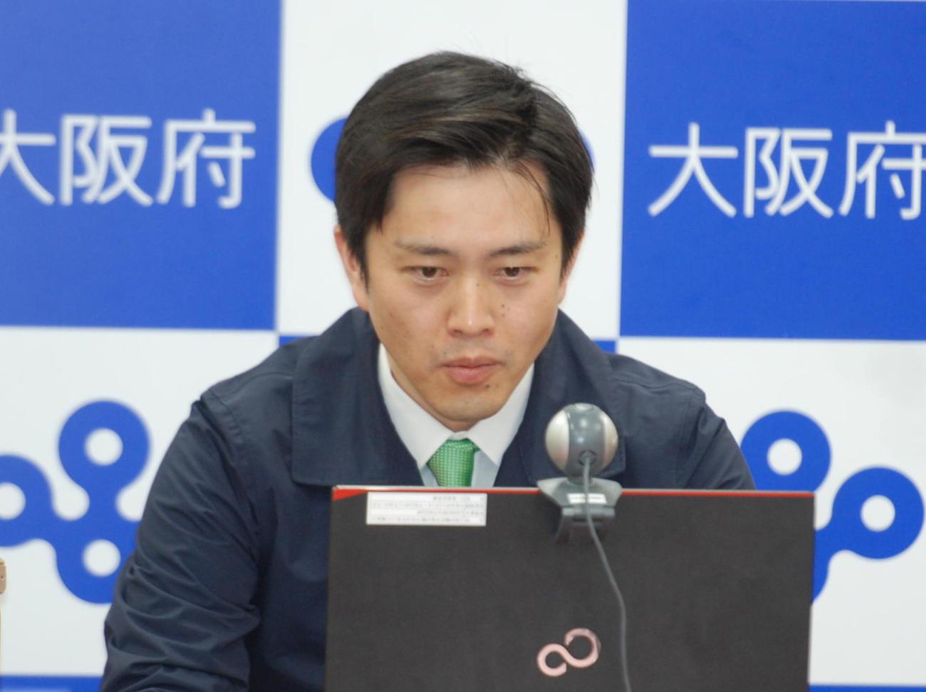 吉村洋文知事(2021年4月4日撮影)