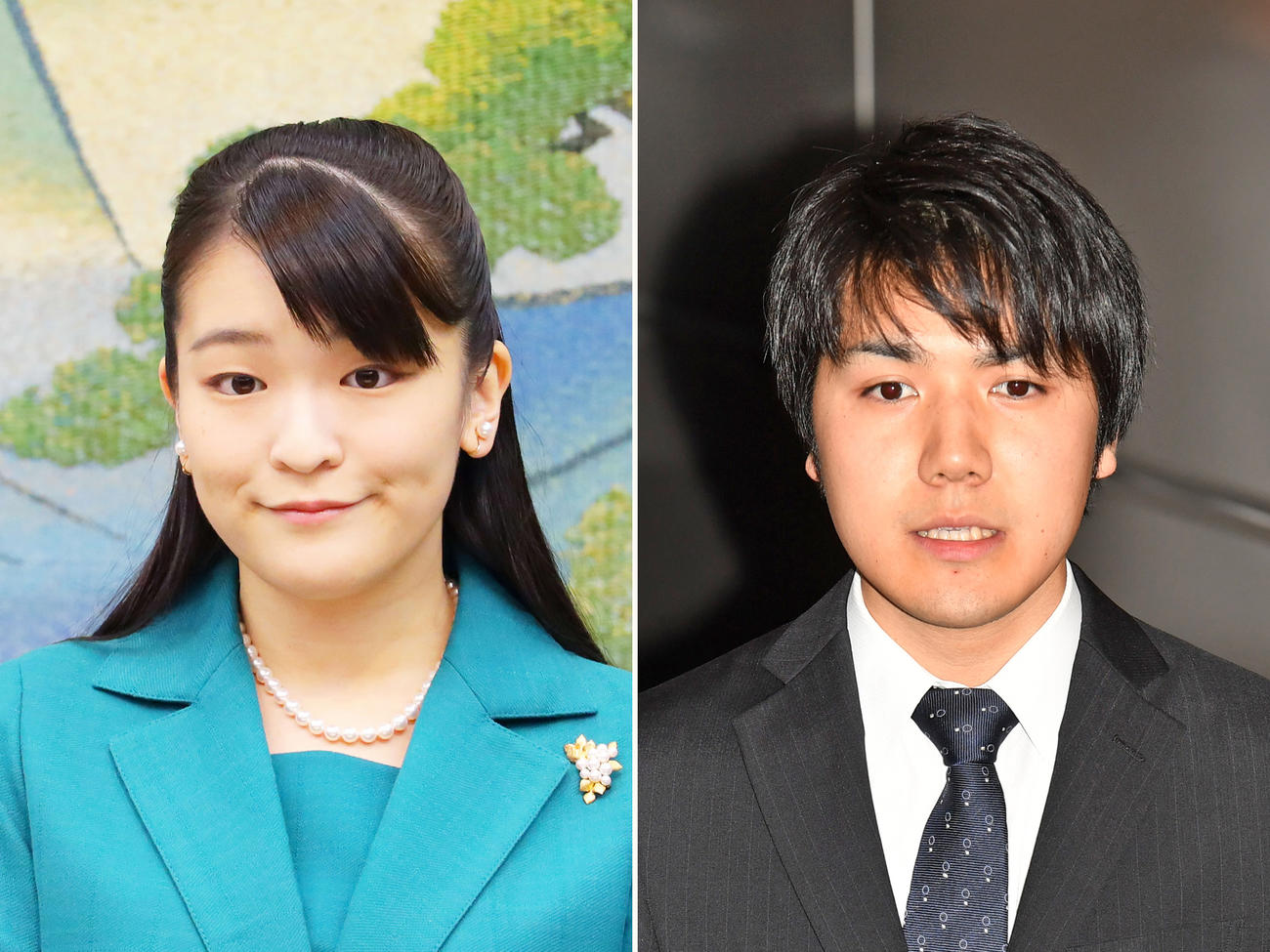 眞子さま(左)と小室圭さん