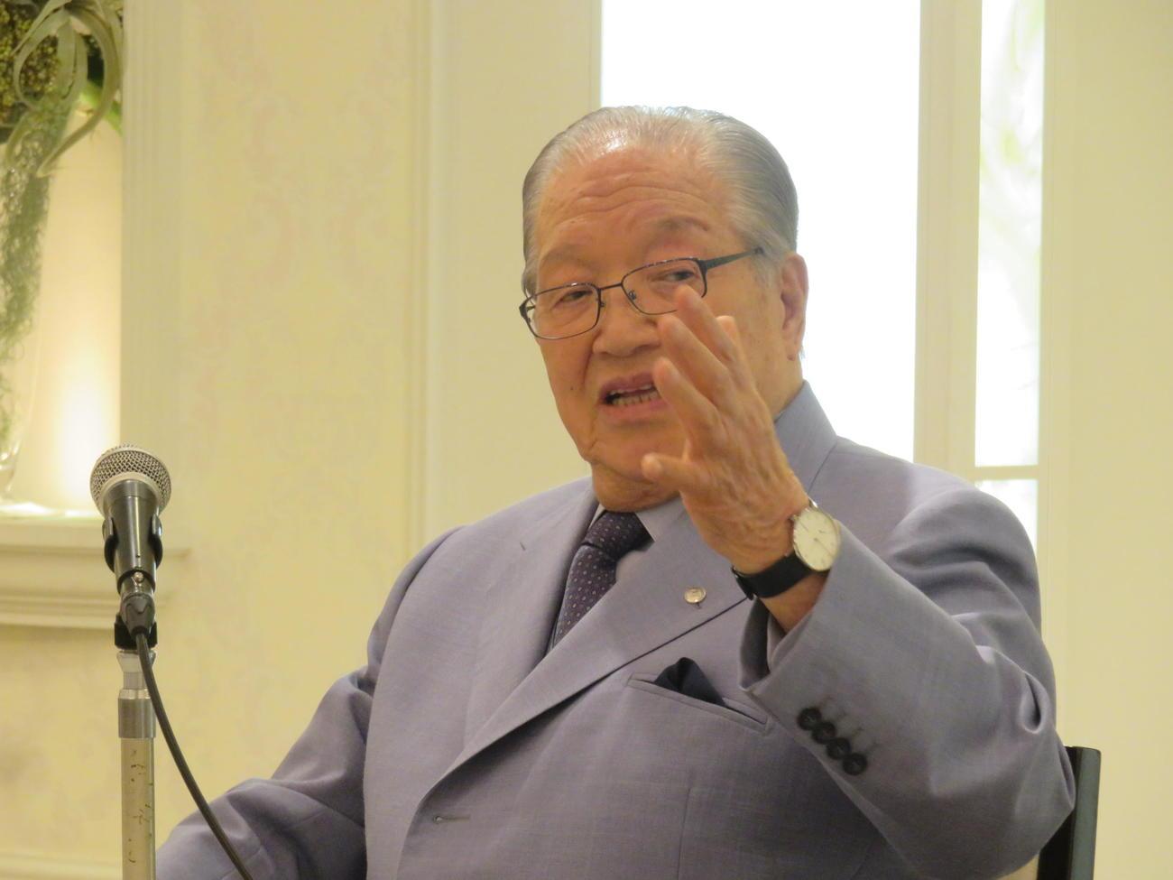 カジノが争点の今夏の横浜市長選について語る「ハマのドン」藤木幸夫氏