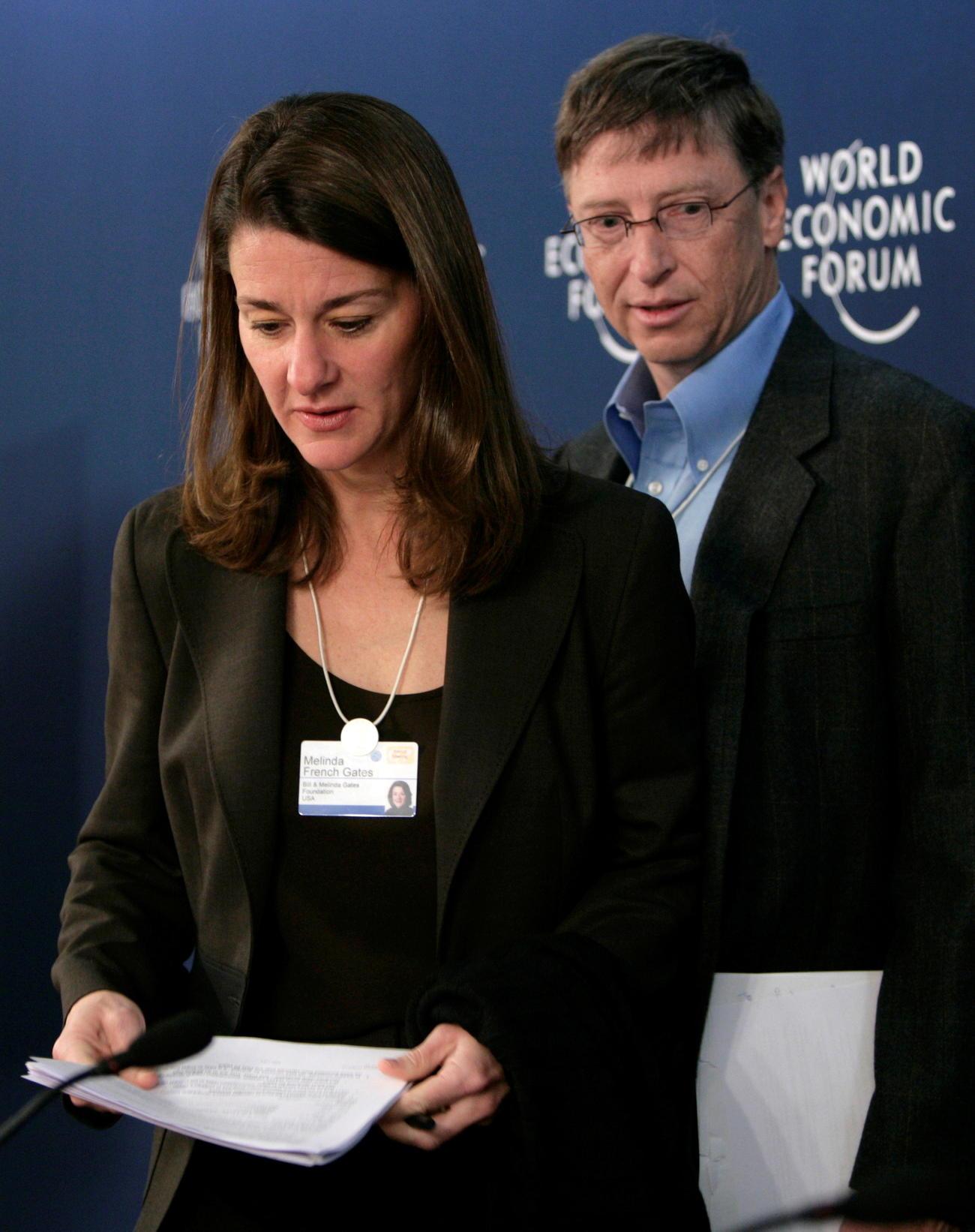ビル・ゲイツ氏(右)とメリンダさん(07年1月撮影=ロイター)