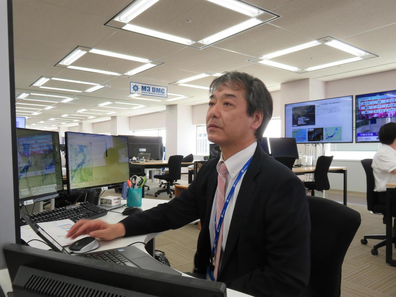 ウエザーニューズ社で気象解説員を務める気象予報士の宇野沢達也氏