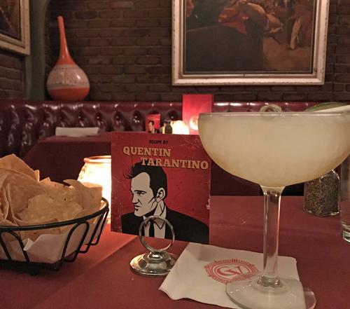 タランティーノ監督自らが考案したタランティーノ・マルガリータは、ここでしか飲めないオリジナル